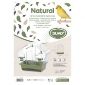 Bird cage Natural Beta Mini - 36,5x20x34cm - Olive/zinc