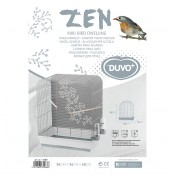 Bird cage Zen Miki - Tripod 3 - 54x34x65cm - Light grey/grey