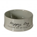 Feeding Bowl Stone Happy Dog - Ø10,5cm - Grey - 300ml