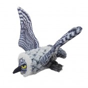 Plush Flying white owl - 22x23x19cm