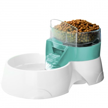 Pet Feeder 2In1 - 28x19x17cm - Blue